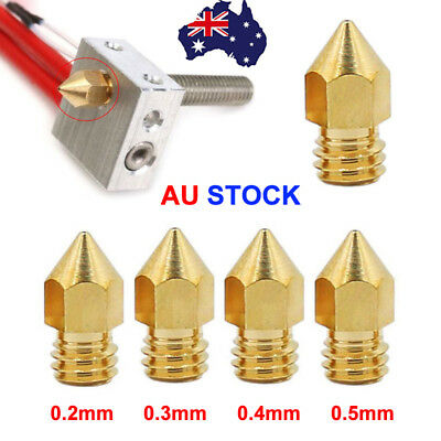 10X MK8 Extruder Nozzle Print Heads Universal for 0.2-0.5mm filament 3D Printer