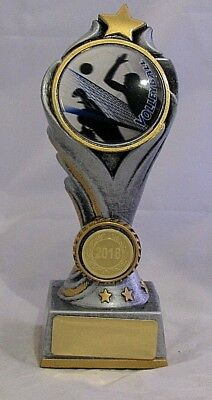 Volleyball Flame Tower Trophy 150mm  Engraved FREE