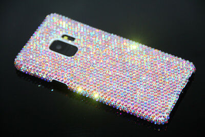 Luxury Real Diamond Case BLING Crystal Hard Cover For Samsung Galaxy S9 S9 Plus