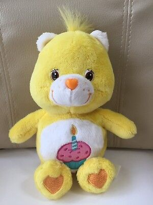 """Care Bears Birthday Bear Plush Doll H 18cm 7"""" Used 2009 From Japan F/S Tracking"""
