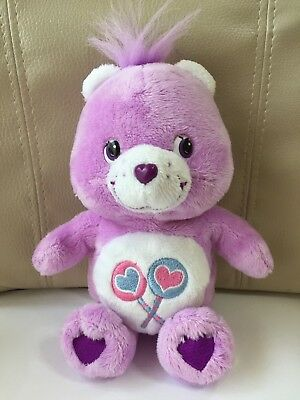 """Care Bears Share Bear Plush Doll H 18cm 7"""" Used 2008 From Japan F/S Tracking"""