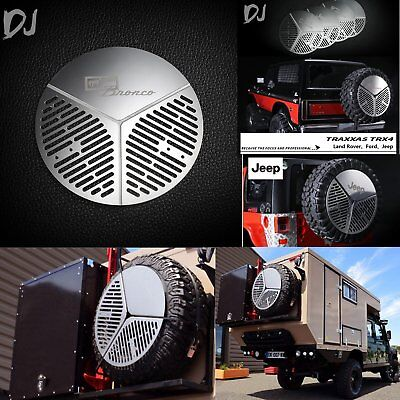Stainless Spare Wheel Cover Tyre Tire Storage for TRX-4 Land Rover, Ford, JEEP