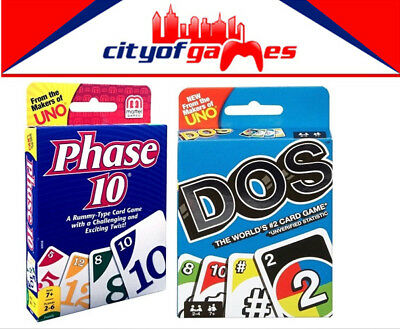 Phase 10 & DOS  Card Game Brand New From The Makers of Uno In Stock