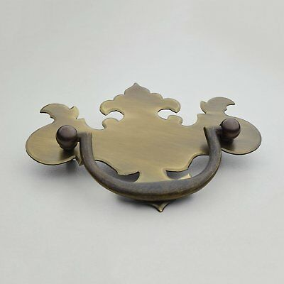Cabinet Handle Traditional Drawer Pull Solid Brass 4 inch in 9 Finishes By FPL