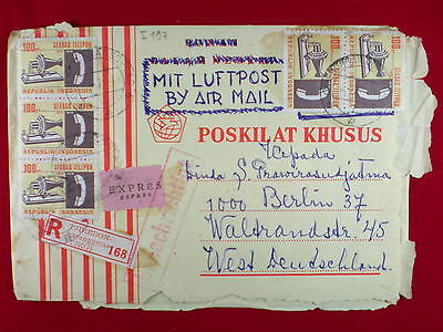 ZG-C827 INDONESIA - Telecommunication, Air Mail To Germany Cover