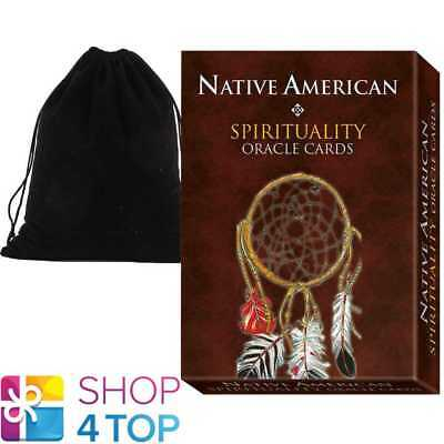 Native American Spirituality Oracle Cards Deck Esoteric Lo Scarabeo Velvet Bag