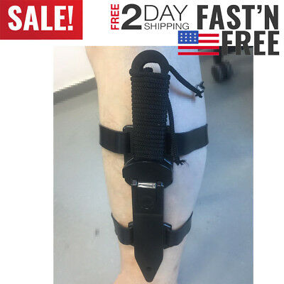 Knife Stainless Leg Sheath Steel Tactical Black 8.5in Scuba Camping Sports,Dive