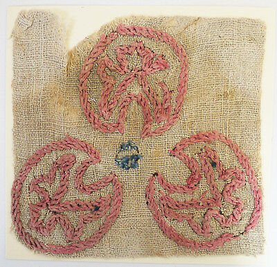 13-15C Antique Textile Fragment - Embroidery