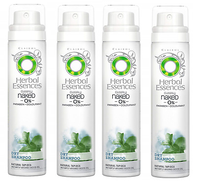 4x Herbal Essences Dry Shampoo Clearly Naked 0% Colourant 65ml