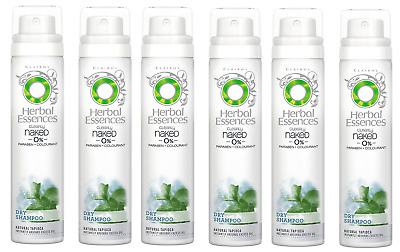 6x Herbal Essences Dry Shampoo Clearly Naked 0% Colourant 65ml