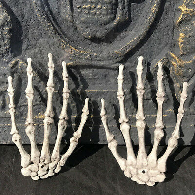 1PAAR SKELETTHÄNDE KNOCHEN Skelett Hand Klaue Metacarpals Halloween ...