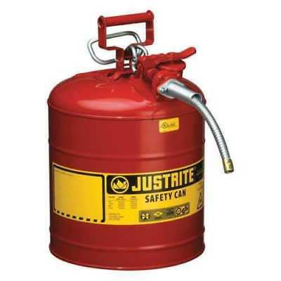 JUSTRITE 7250120 Type II Safety Can, Red, 17-1/2 In., 5 gal.