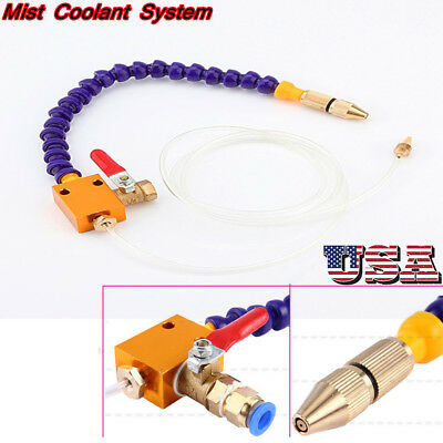 8mm Mist Coolant Lubrication Spray System CNC Lathe Metal Milling Machine US