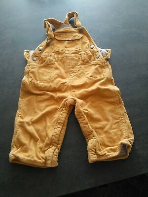 Baby Mini Boden Mustard Yellow Cord Cordroy Dungarees 12-18 Months Unisex