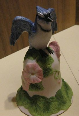 Avon 2001 Bell Blue Jay Morning Glory Flowers Collectible 3rd in Series