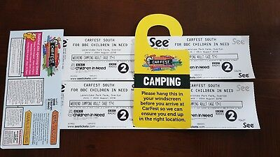 Carfest South 4 x Adult full weekend camping tickets.