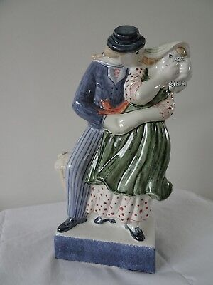 RYE POTTERY THE LOVERS Sailors Farewell 2000 signed 25cm RARE LARGE