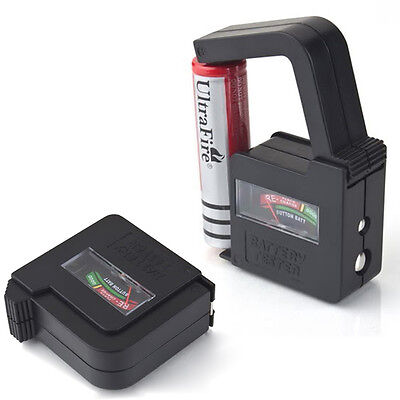 Newly Universal Battery Volt Tester AA AAA C D 9V 1.5V Button Cell Checker UK