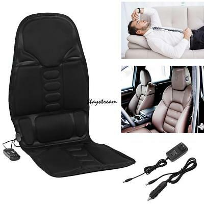 New Car Seat Heat Massage Back Chair Cushion Pad Lumbar Neck Shoulder US-MA