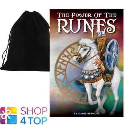 Power Of The Runes Cards Deck Esoteric Thomas Vomel Us Games Systems Velvet Bag