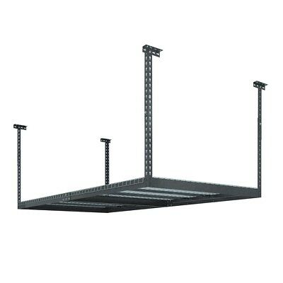 Ceiling Storage Rack Adjustable 600 lbs Capacity Wire Grids Powder-coated Finish