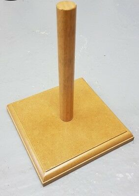 Vintage shop display wooden bowler hat stand advertising retail window tailors