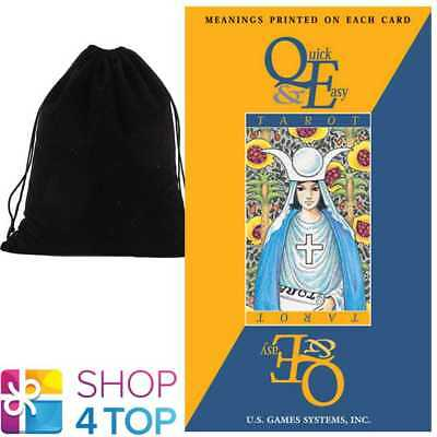Quick & Easy Tarot Deck Cards With Printed Meaning Esoteric With Velvet Bag New