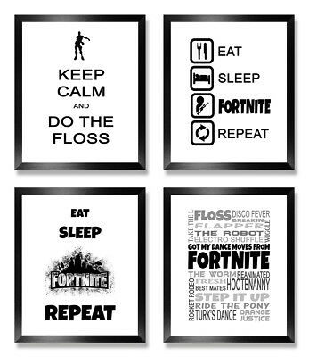 FORTNITE POSTER PRINT WALL ART XBox PS4 PC Christmas Birthday Gift Boys Room