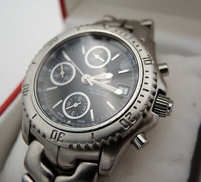 TAG Heuer Link CT2111 Chronograph Automatic Stainless Steel Armbanduhr Herren