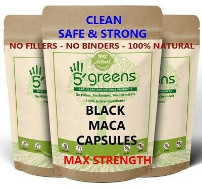 Black Maca Gelatinized 4:1 Natural Capsules 2040mg Extract Not Powder