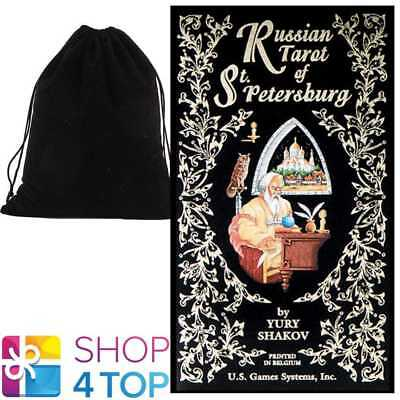 Russian Tarot Of St. Petersburg Cards Deck Esoteric Us Games Systems Velvet Bag