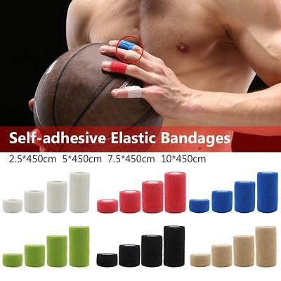 Self-Adhesive Elastic Bandage Gauze Tape Medical Finger Muscles Ankle Wrap Sport