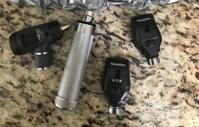 welch allyn 3.5v diagnostic set with wideview otoscope, ophthalmoscopes, handle