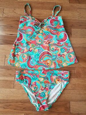 Motherhood Tankini Swimsuit Size Medium Super CUTE EUC