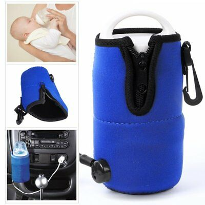 Portable Baby Milk Water Bottle Cup Warmer Heater Cover For Auto Travel