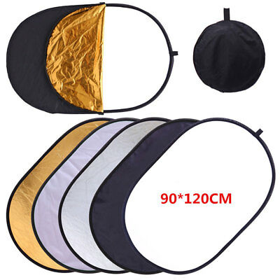 5in1 90x120cm Light Mulit Photo Reflector Photo Photography Studio Diffuser