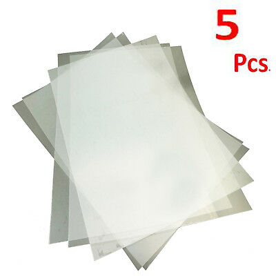 Clear Bake Plastic Heat Shrink Film 7.8 X 11.4 inch 5 Sheets of Heat Shrink
