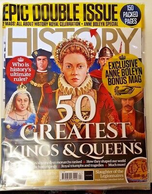 All About History Magazine = # 67 = 2018 Double # = 50 Greatest Kings And Queens
