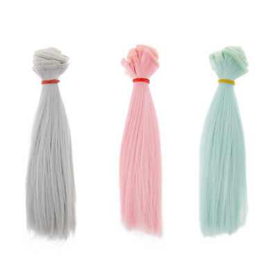 15x100cm Doll Straight Hairpiece For BJD SD Dolls DIY Making Accessory