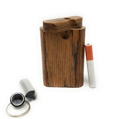 """Colorful Wooden Dugout Set with Pipe 3"""" Spring Loaded 2"""" Metal One Hitter USA"""