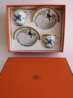 Hermes Toucans coppia tazzine in porcellana