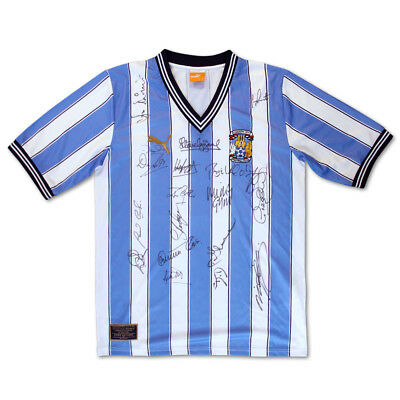 Signed Coventry 1987 Shirt - CCFC - 1987 FA Cup