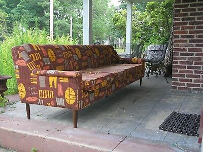 "Mid Century Modern 97"" Sofa Couch"