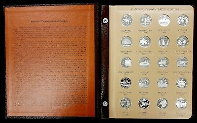 1999 thru 2009 S Silver Proof State Quarters in Dansco Album! 56 silver coins!