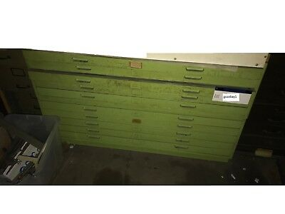 Wooden 10  Drawer Cabinet For Maps And Plan Drawings