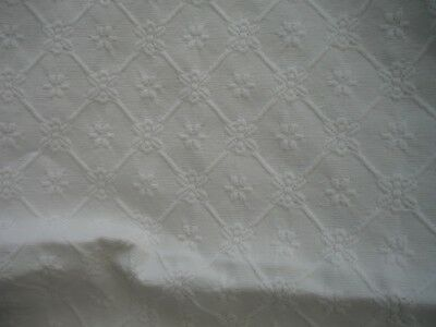 "Quality Antique cotton floral embossed Meditterean style bedspread/throw 96""/86"