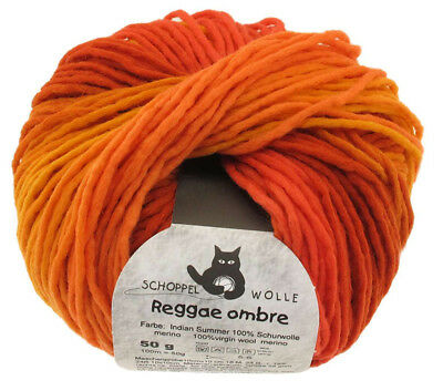 13€/100g Schoppel Wolle 50g Reggae ombre 1873 Indian Summer
