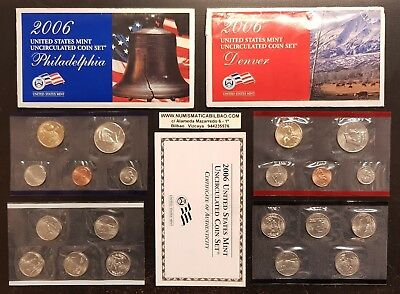 ESTADOS UNIDOS 2006 US MINT UNCIRCULATED COIN SET 20 COINS United States USA D+P