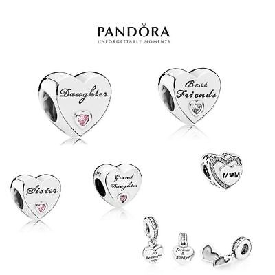 Pandora Moments Wife Happy Anniversary Dad Daughter Sister Mum Charm Bead Silver