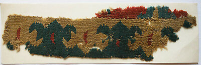 13-15C Antique Textile Fragment - Carpet, Dyeing and Weaving, Kilims, Loop Weave